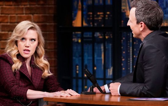Kate McKinnon promotes 'Yesterday' on Late Night with Seth Meyers