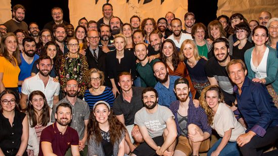 Kate McKinnon meets RBG backstage at the 'Fiddler on the Roof in Yiddish' Musical
