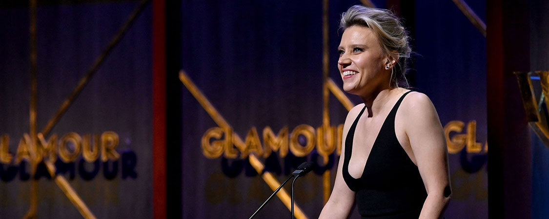 Kate McKinnon introduces Charlize Theron at the 2019 Glamour Women Of The Year Awards