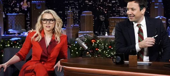 Kate McKinnon promotes 'Bombshell' on The Tonight Show Starring Jimmy Fallon